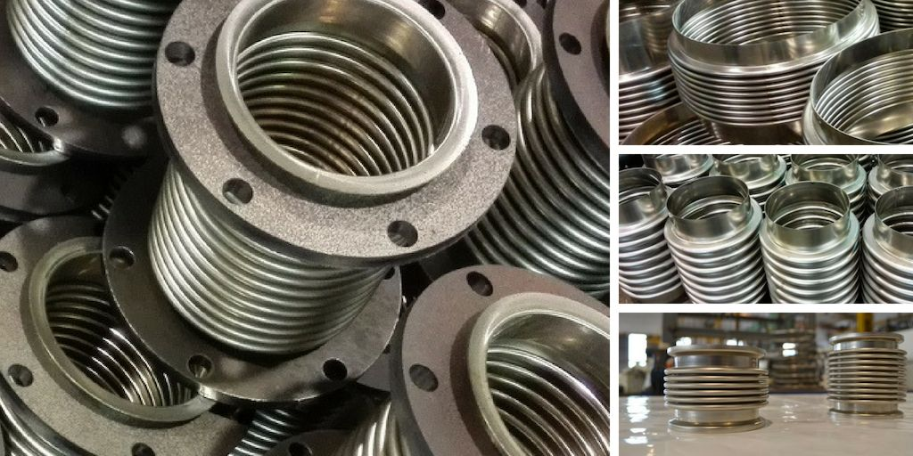 Metal expansion joints specially designed to be assembled in pipelines and exhaust systems in generator sets
