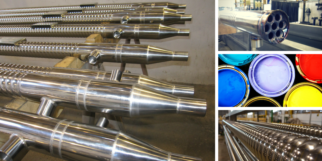 Tubular heat exchangers for industrial paint applications