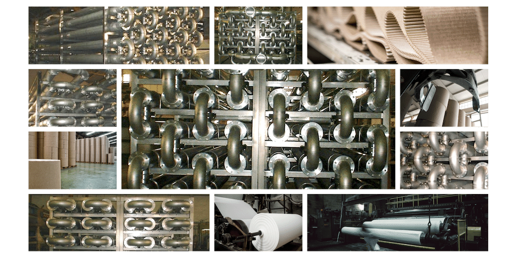 Heat exchanger intended for the heat recovery in the pulp and paper industry