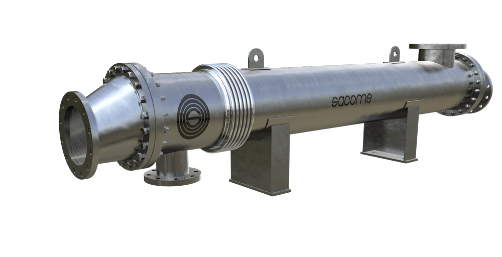 Shell and tube heat exchangers for the heating of mineral by-product