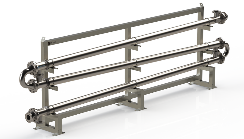 Tubular heat exchangers intended for biodiesel processing