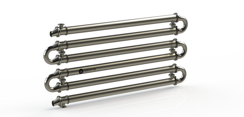 Multitubular heat exchangers for pasteurization and cooling of oat syrup