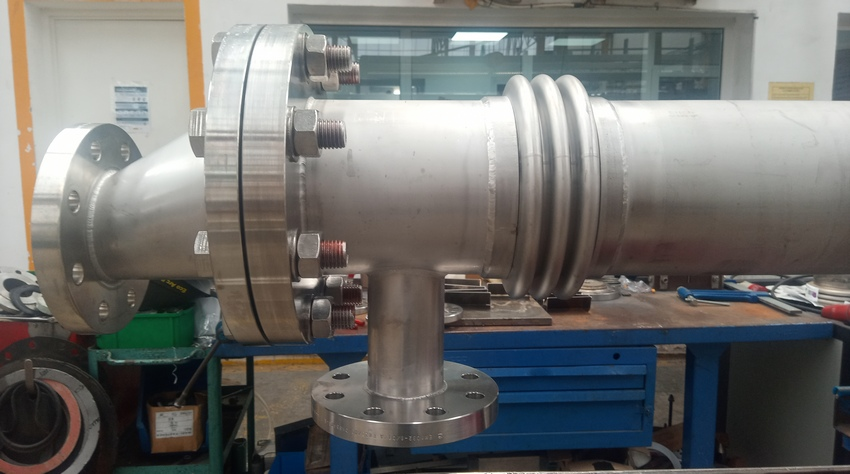 Tubular heat exchangers intended for heating 20 m3/h of process water in a high pressure line of 16 barg.